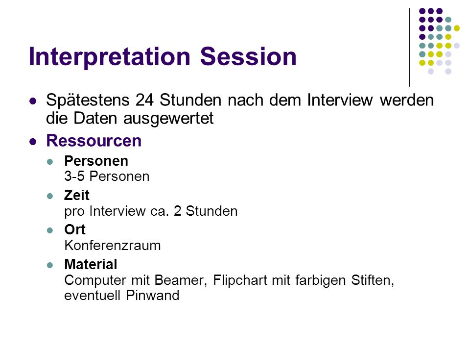 Interpretation Session