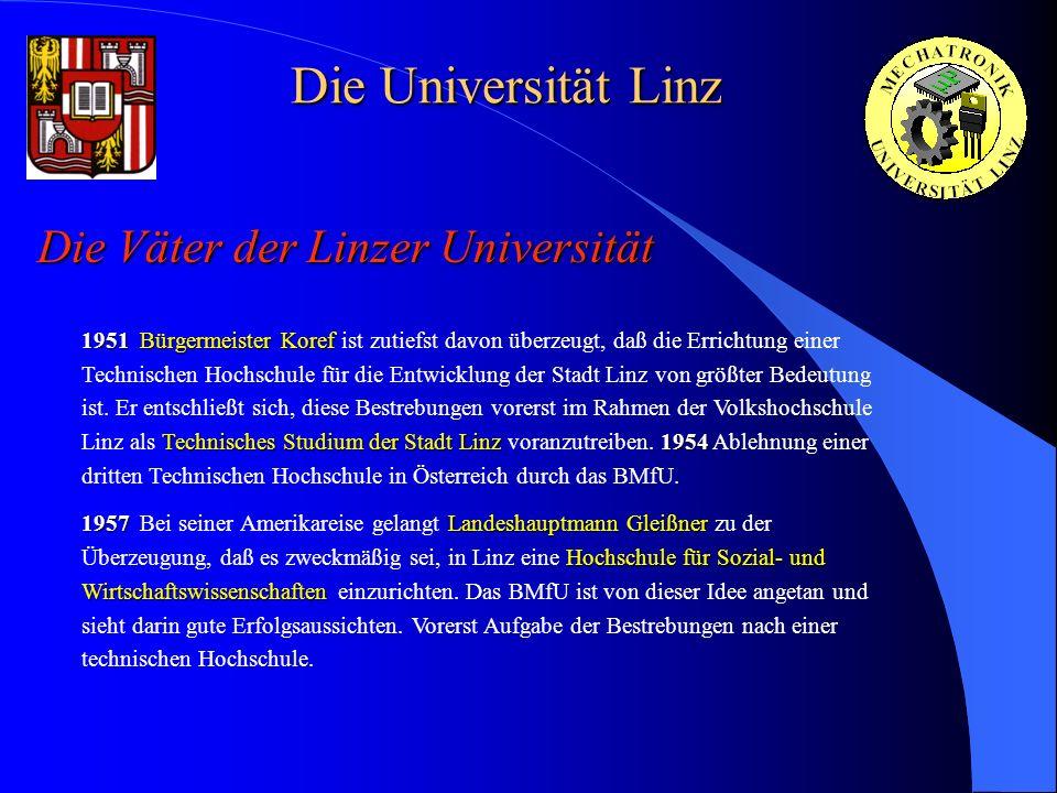 Die Universität Linz Die Väter der Linzer Universität