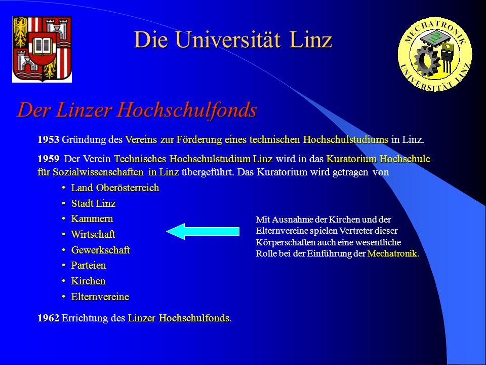Die Universität Linz Der Linzer Hochschulfonds