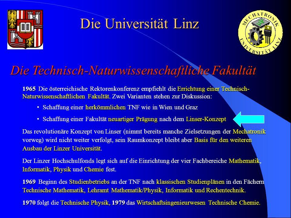 Die Universität Linz Die Technisch-Naturwissenschaftliche Fakultät