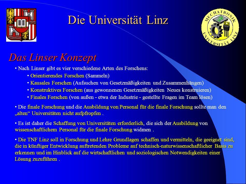 Die Universität Linz Das Linser Konzept