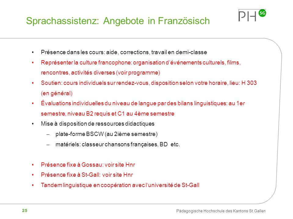 Sprachassistenz: Angebote in Französisch