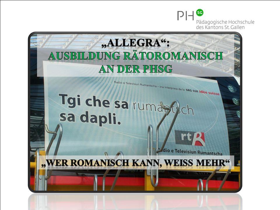 """Ausbildung RÄTOROMANISCH """"Wer Romanisch kann, weiss mehr"""