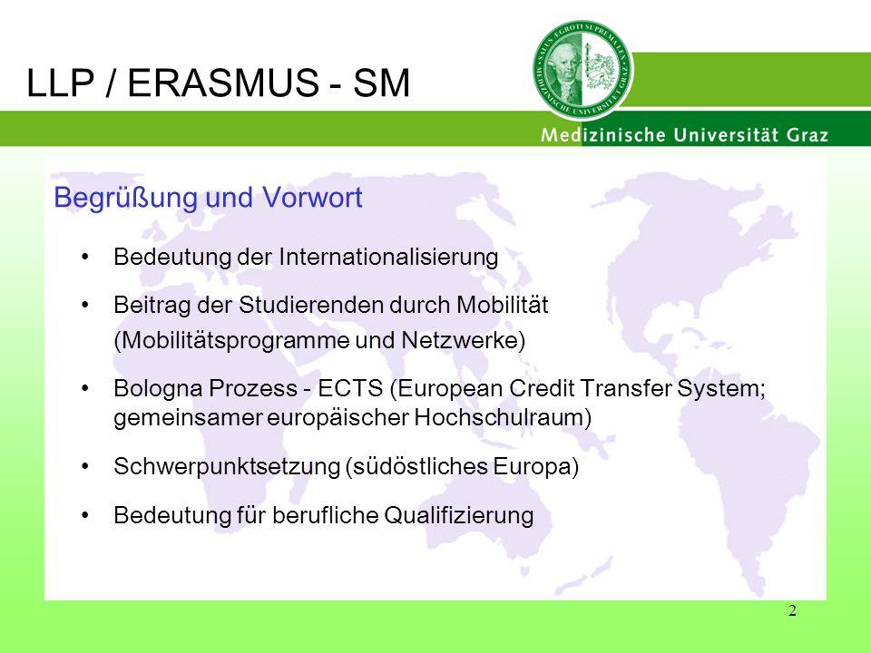 LLP / ERASMUS - SM Begrüßung und Vorwort