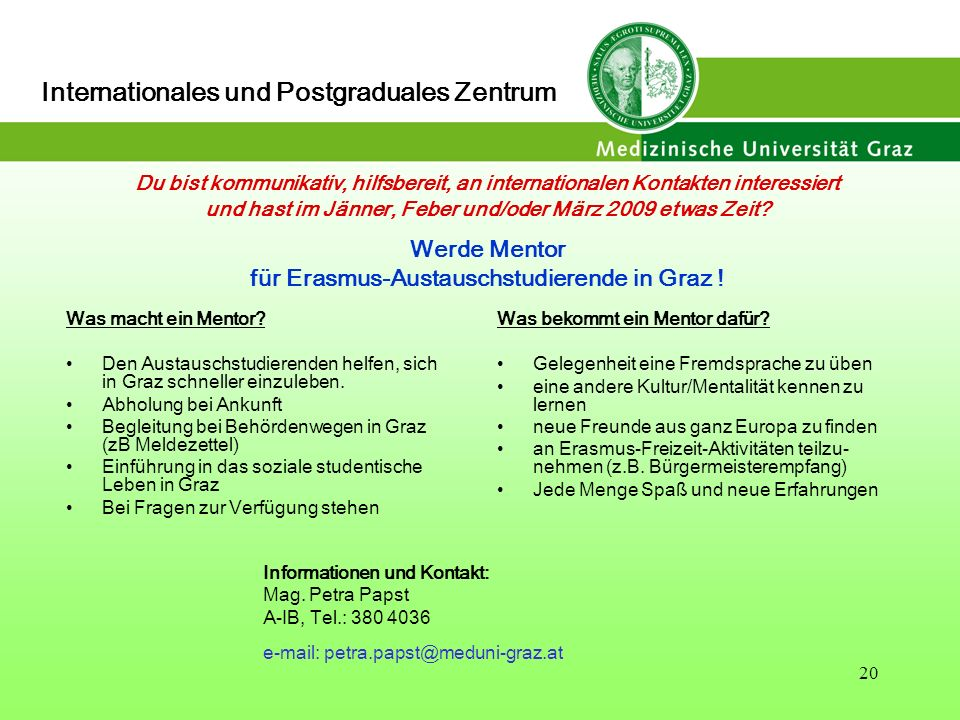 Internationales und Postgraduales Zentrum