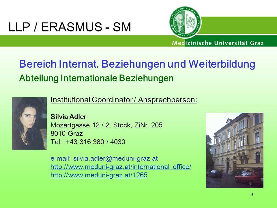 Bereich Internat. Beziehungen und Weiterbildung