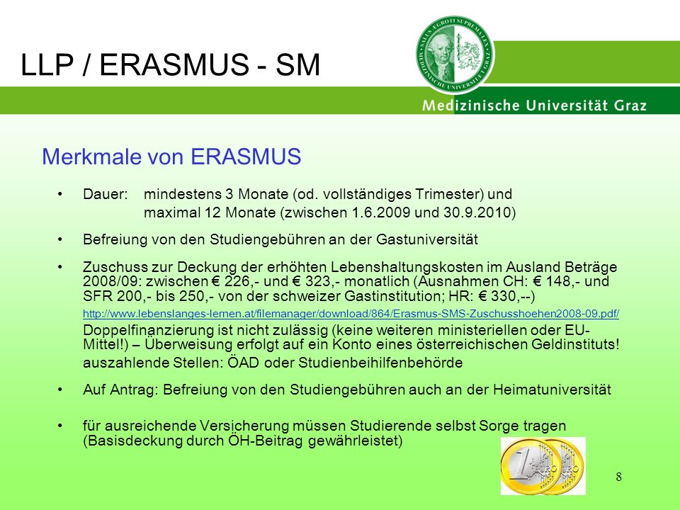 LLP / ERASMUS - SM Merkmale von ERASMUS