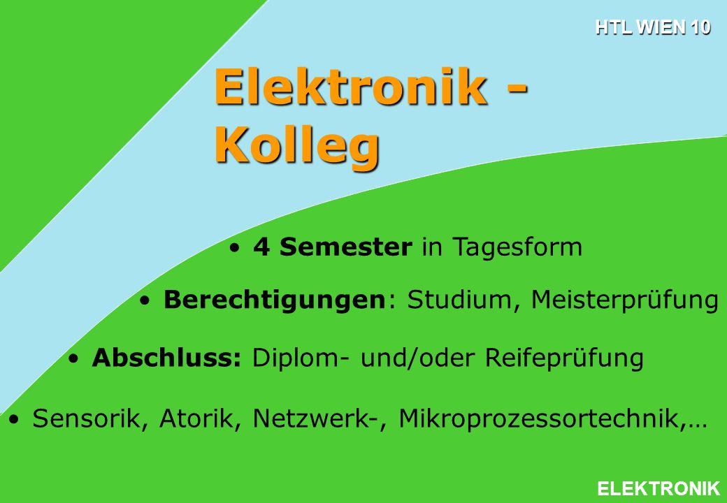 Elektronik - Kolleg 4 Semester in Tagesform