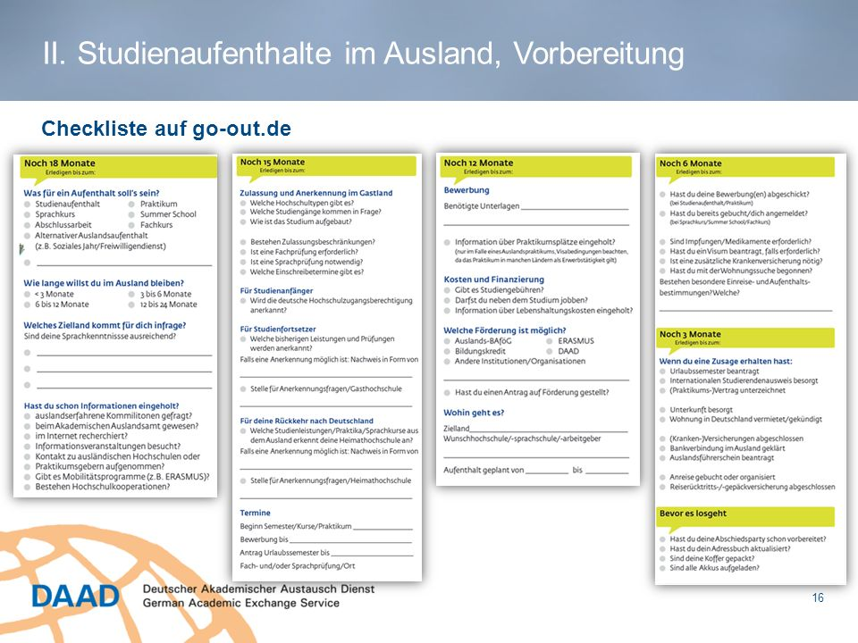 Checkliste auf go-out.de