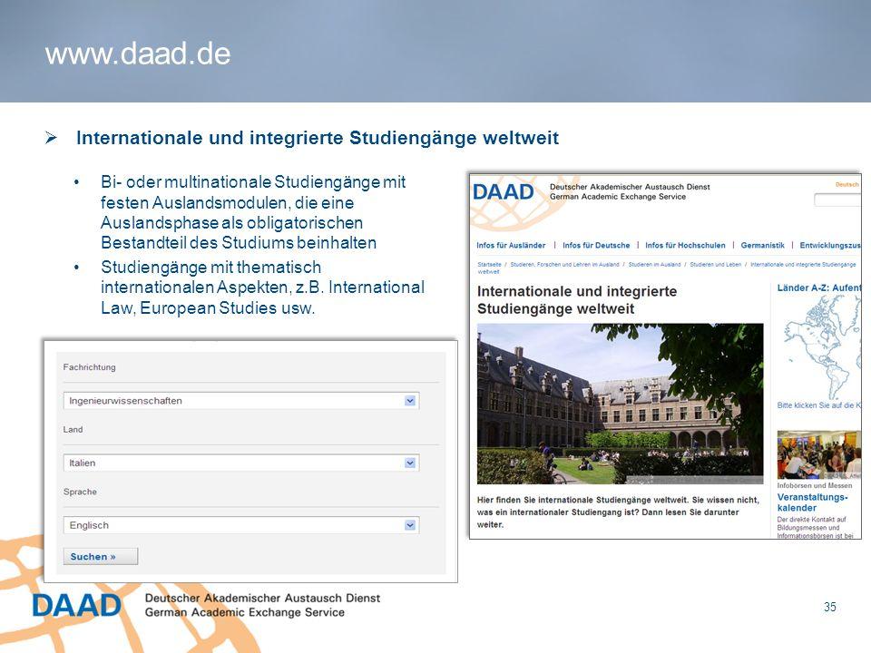 www.daad.de Internationale und integrierte Studiengänge weltweit