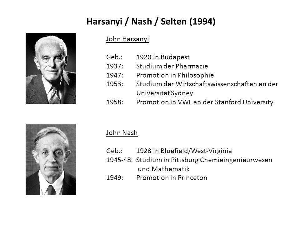 Harsanyi / Nash / Selten (1994)