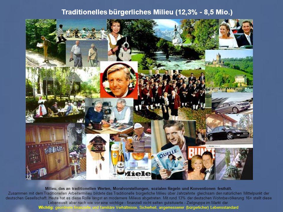 Traditionelles bürgerliches Milieu (12,3% - 8,5 Mio.)