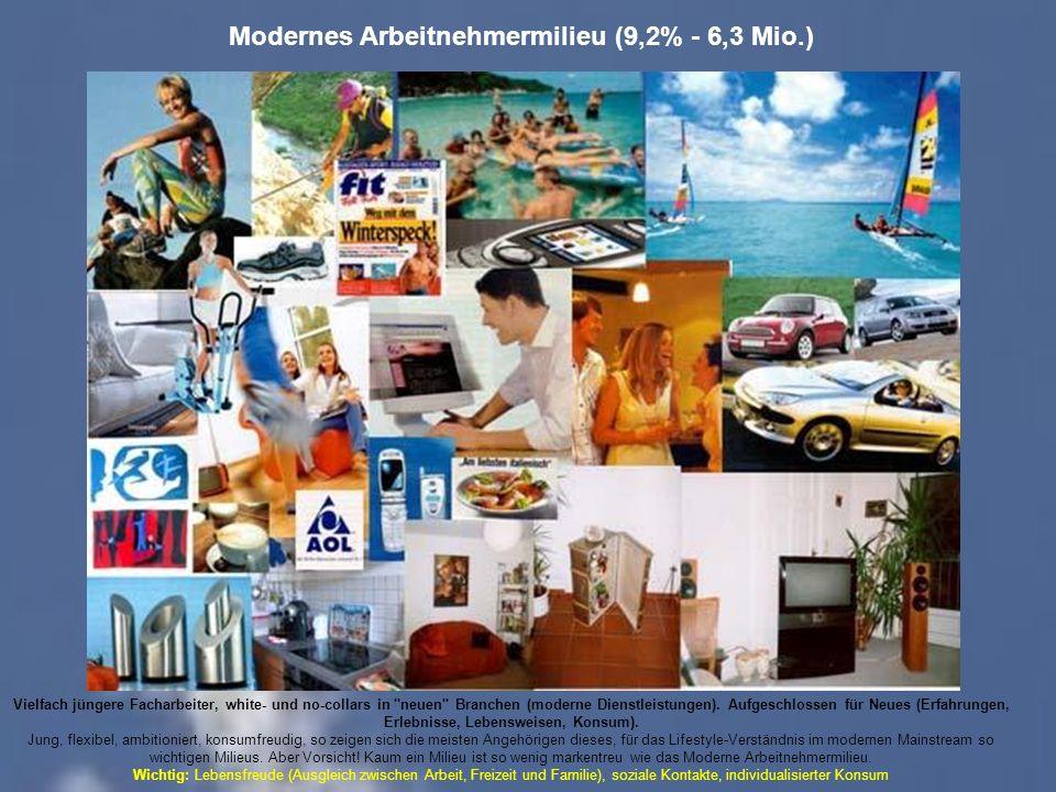 Modernes Arbeitnehmermilieu (9,2% - 6,3 Mio.)