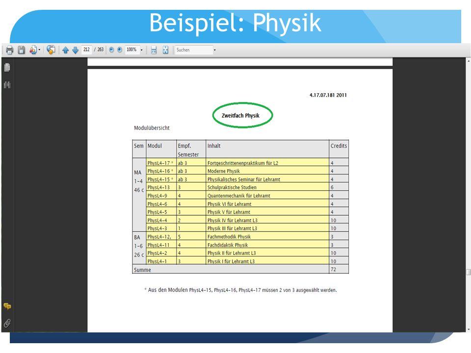 Beispiel: Physik