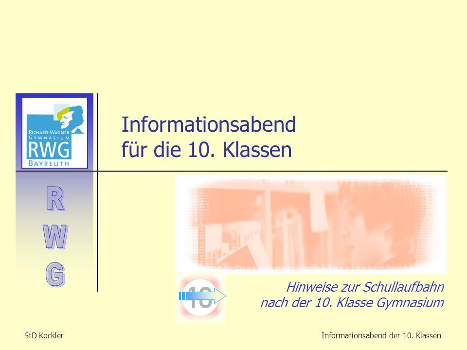 Informationsabend für die 10. Klassen