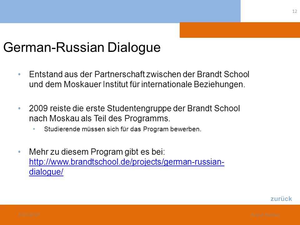 German-Russian Dialogue