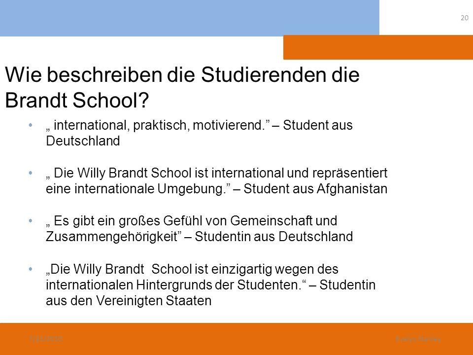Wie beschreiben die Studierenden die Brandt School