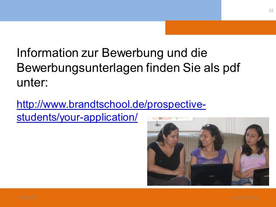 Information zur Bewerbung und die Bewerbungsunterlagen finden Sie als pdf unter: