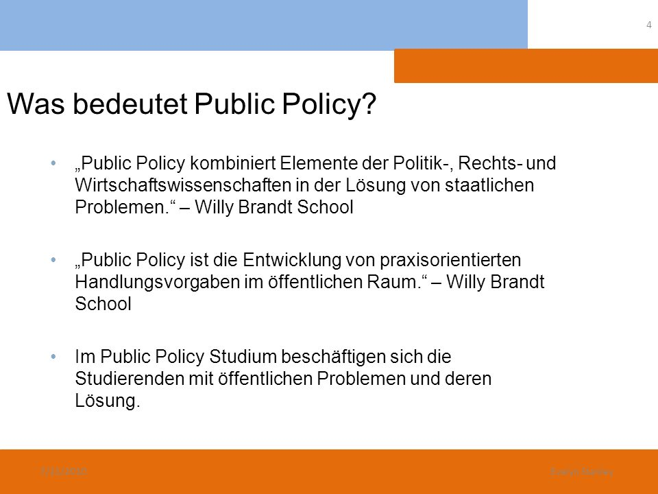 Was bedeutet Public Policy