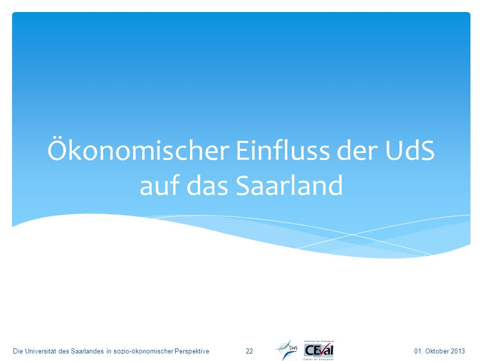 Ökonomischer Einfluss der UdS auf das Saarland