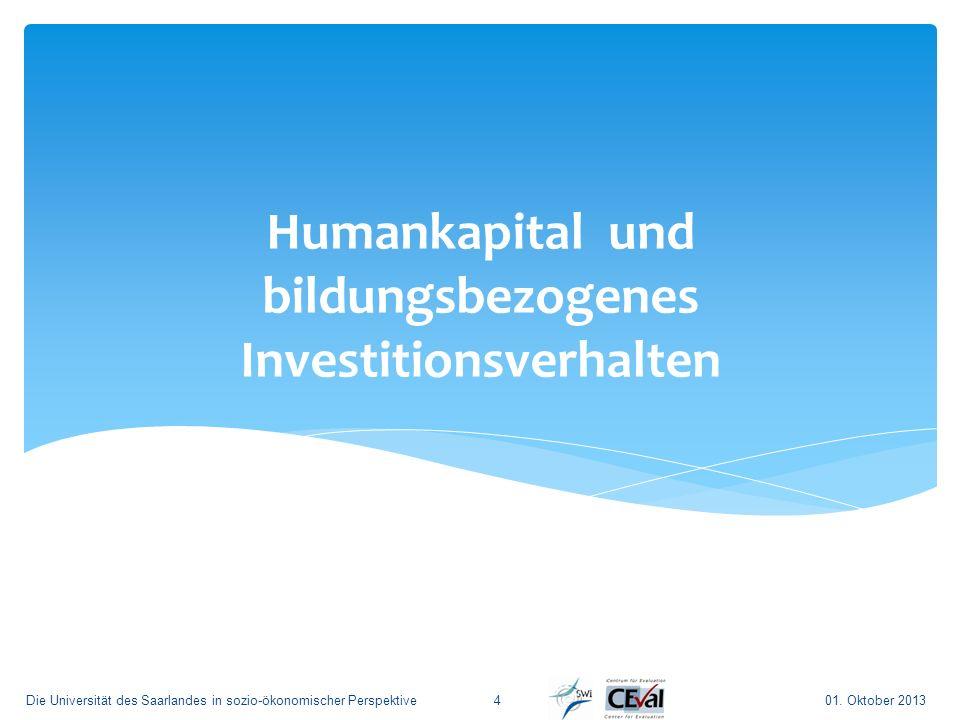 Humankapital und bildungsbezogenes Investitionsverhalten