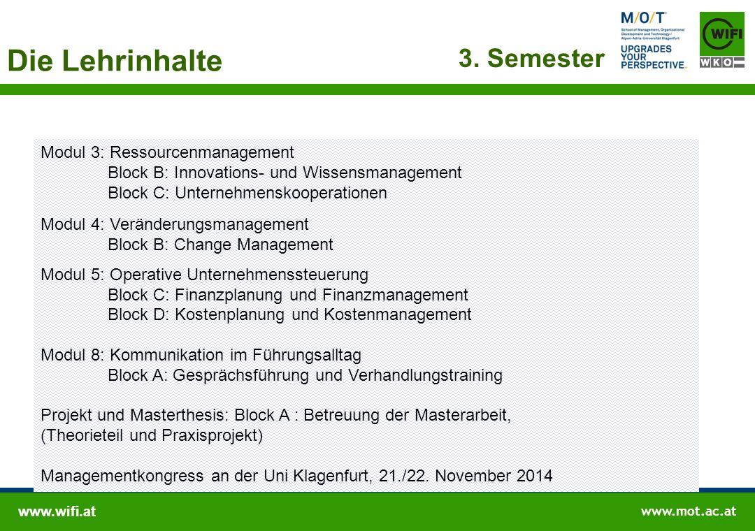 Die Lehrinhalte 4. Semester Modul 2: Strategische Unternehmensführung