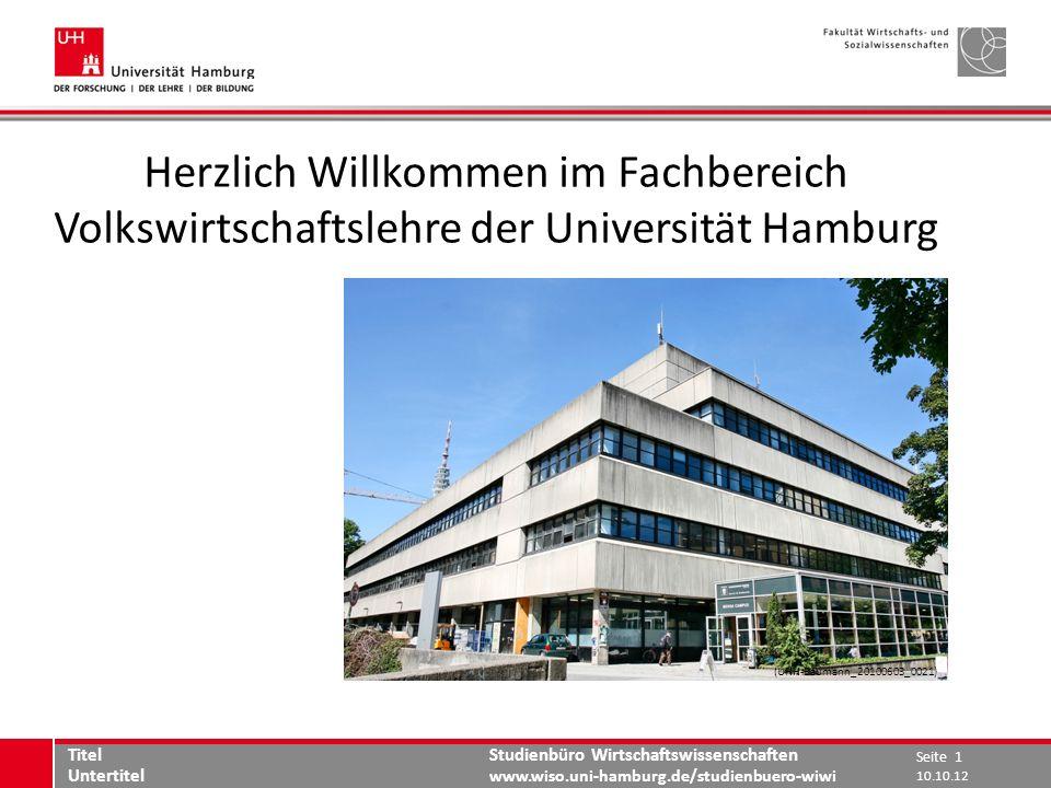 Herzlich Willkommen im Fachbereich Volkswirtschaftslehre der Universität Hamburg