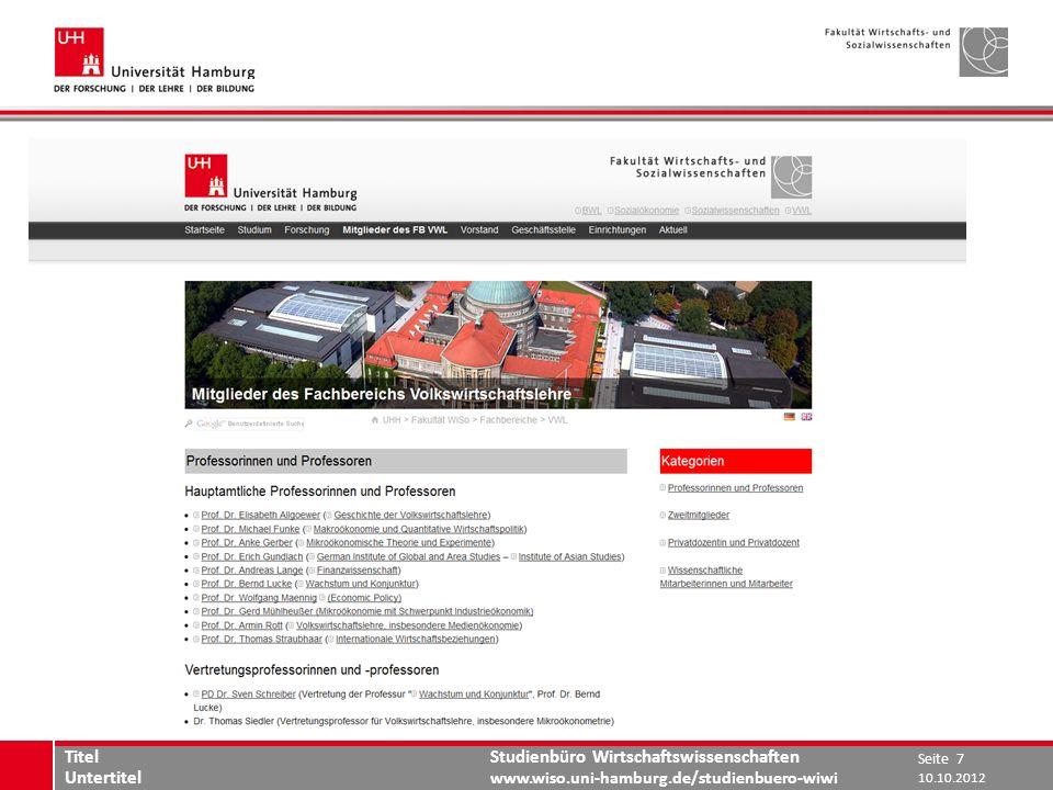 www.wiso.uni-hamburg.de Titel Untertitel 10.10.2012