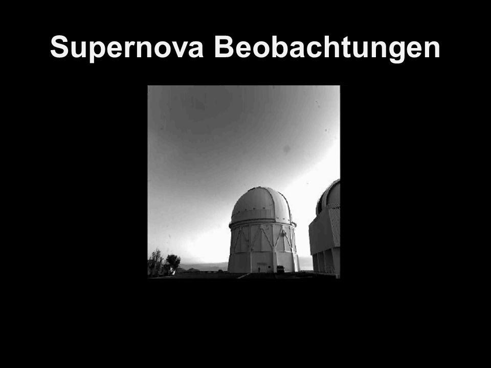 Supernova Beobachtungen