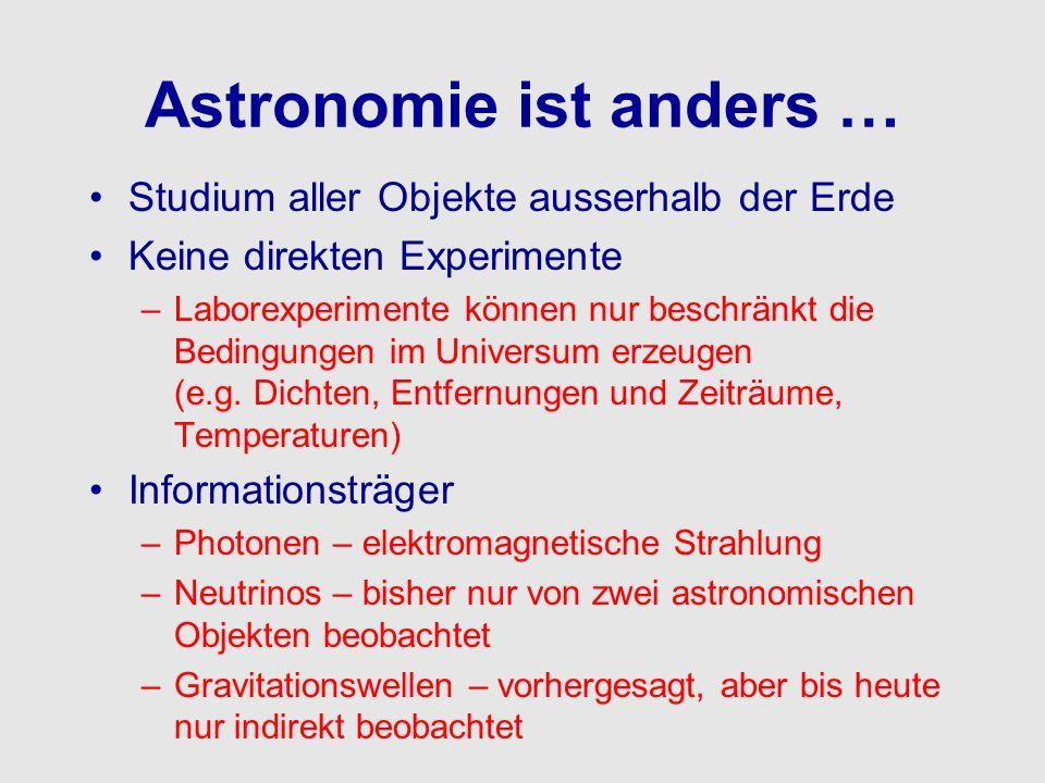 Astronomie ist anders …