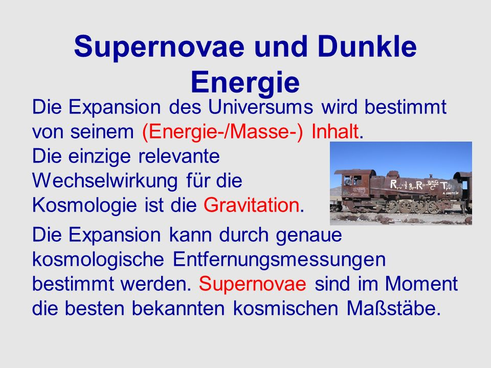 Supernovae und Dunkle Energie