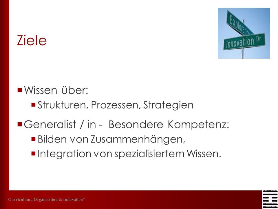 Ziele Wissen über: Generalist / in - Besondere Kompetenz:
