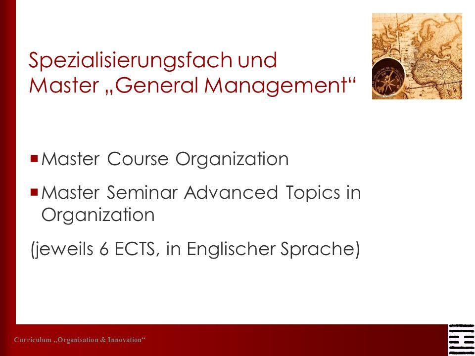 """Spezialisierungsfach und Master """"General Management"""