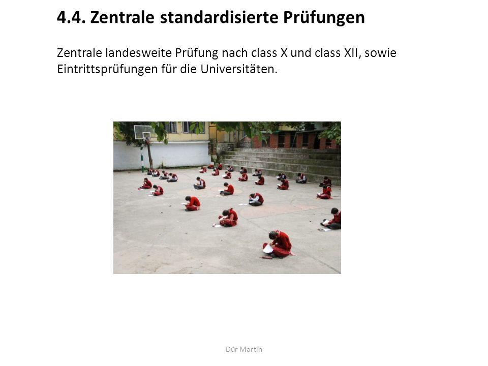 4.4. Zentrale standardisierte Prüfungen