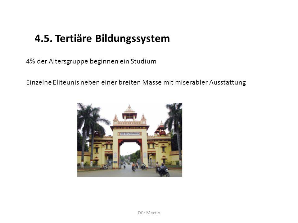 4.5. Tertiäre Bildungssystem