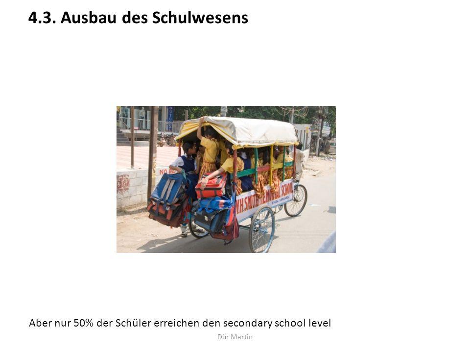 4.3. Ausbau des Schulwesens