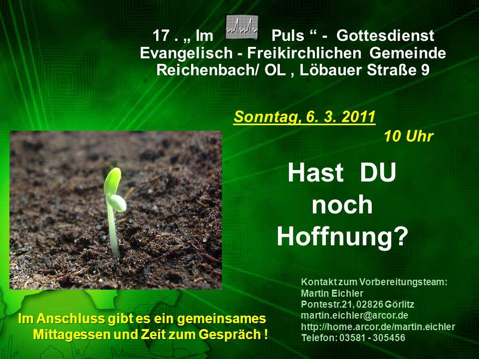 """17 . """" Im Puls - Gottesdienst Evangelisch - Freikirchlichen Gemeinde"""