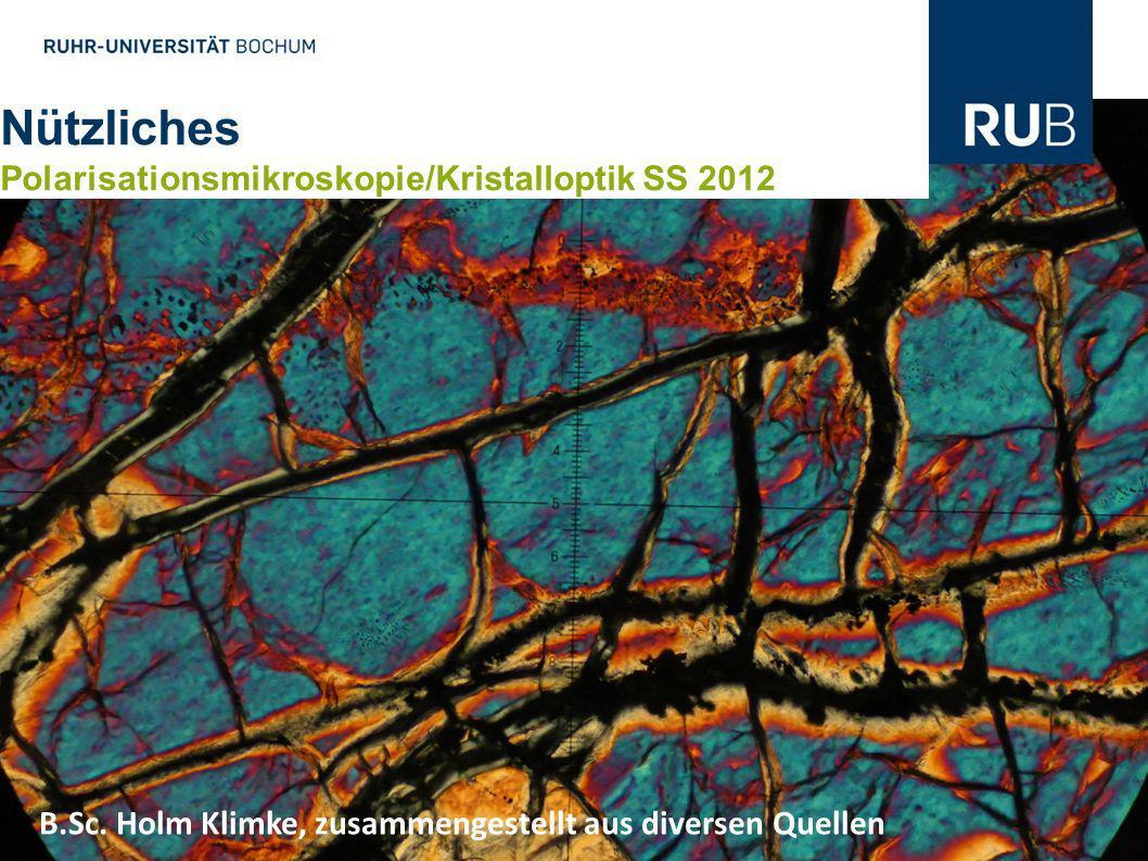 Nützliches Polarisationsmikroskopie/Kristalloptik SS 2012