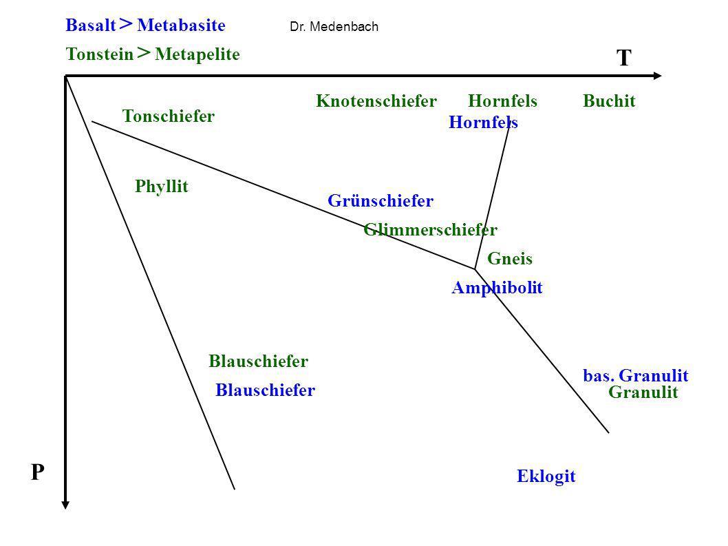 T P Basalt > Metabasite Tonstein > Metapelite Knotenschiefer