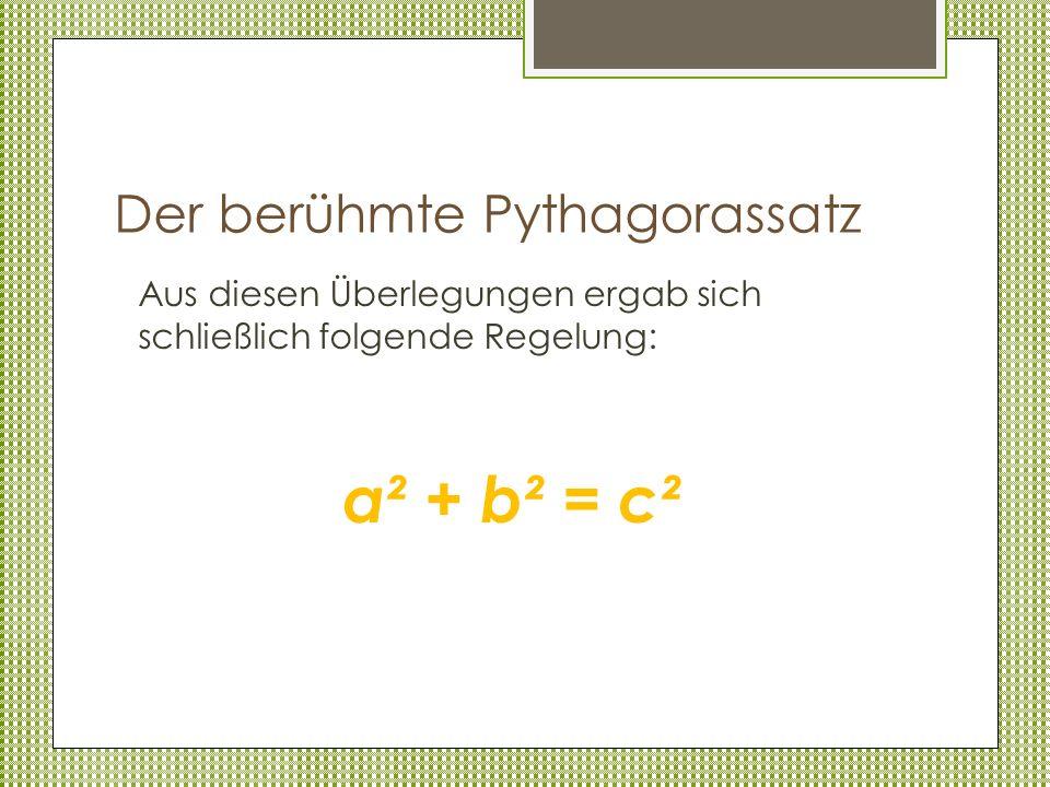 Der berühmte Pythagorassatz