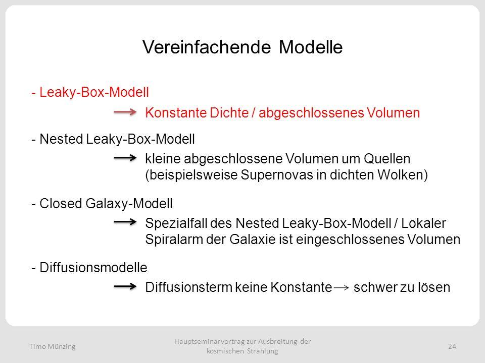 Vereinfachende Modelle