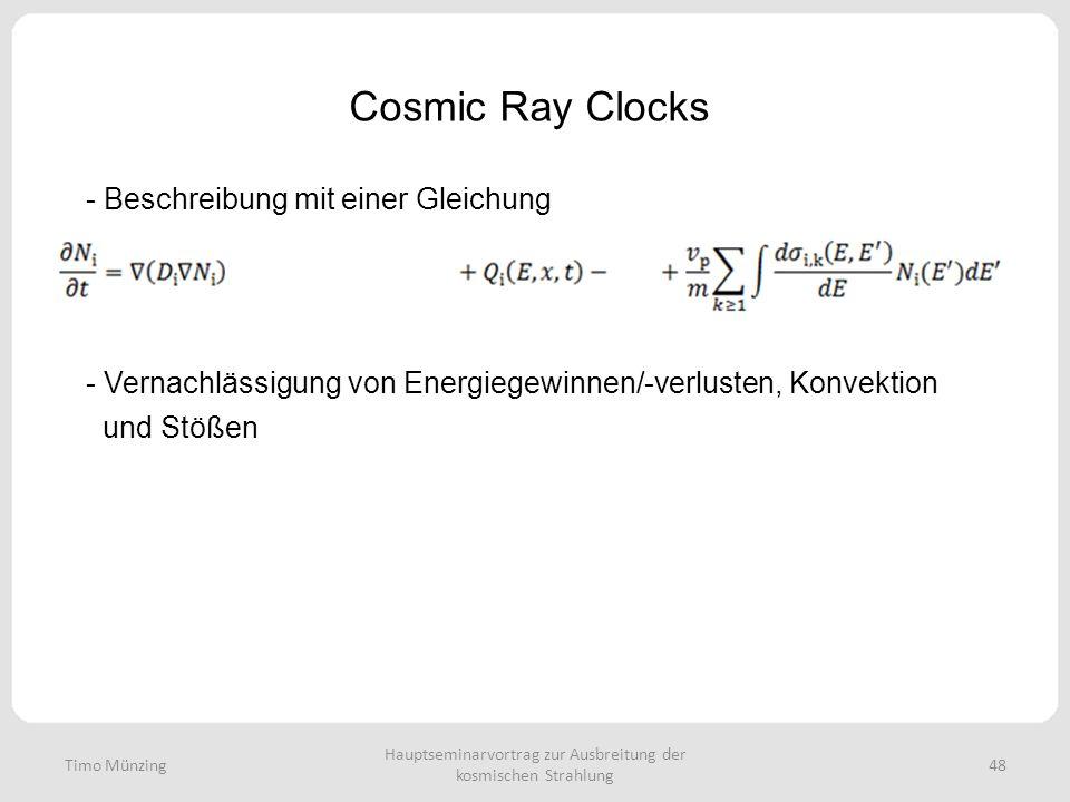 Hauptseminarvortrag zur Ausbreitung der kosmischen Strahlung