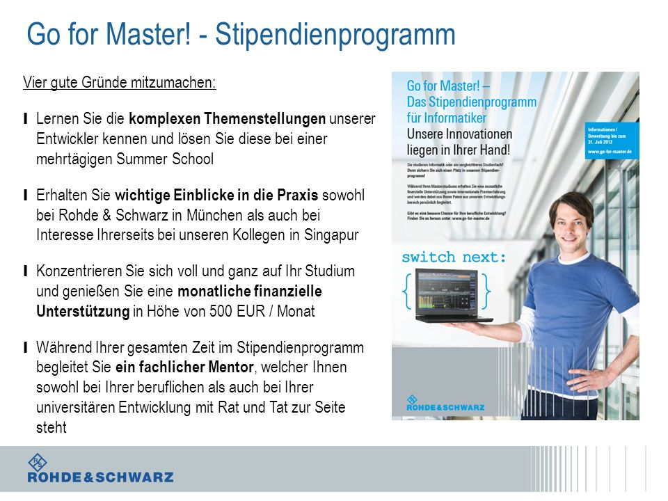 Go for Master! - Stipendienprogramm