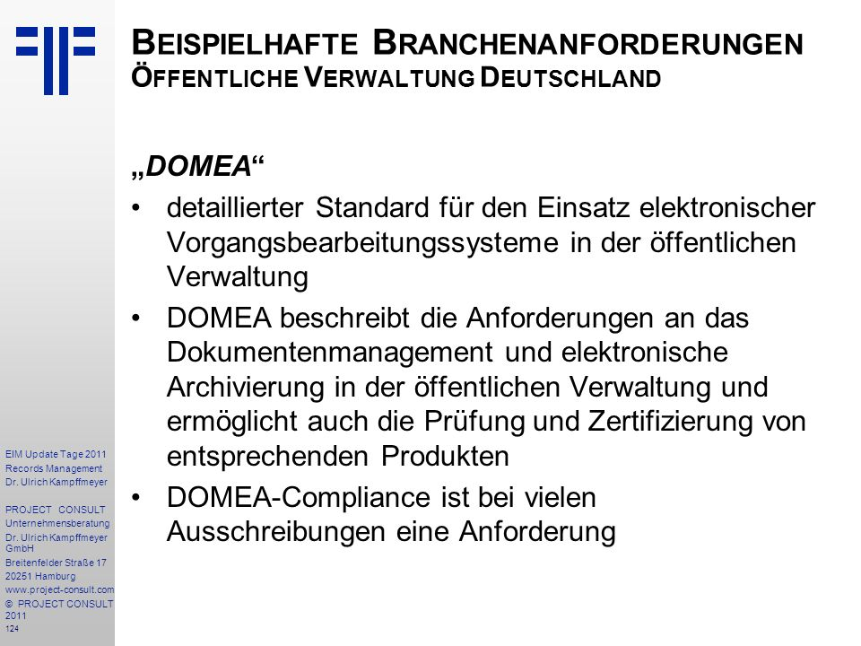 Beispielhafte Branchenanforderungen Öffentliche Verwaltung Deutschland