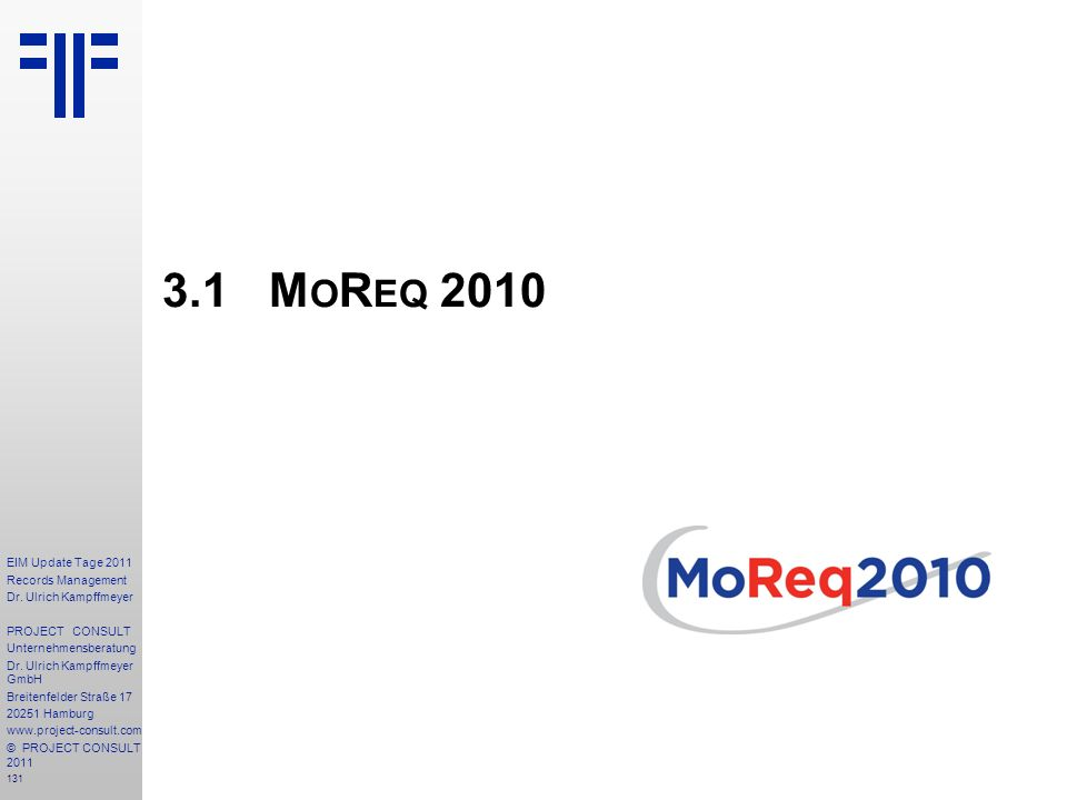 3.1 MoReq 2010