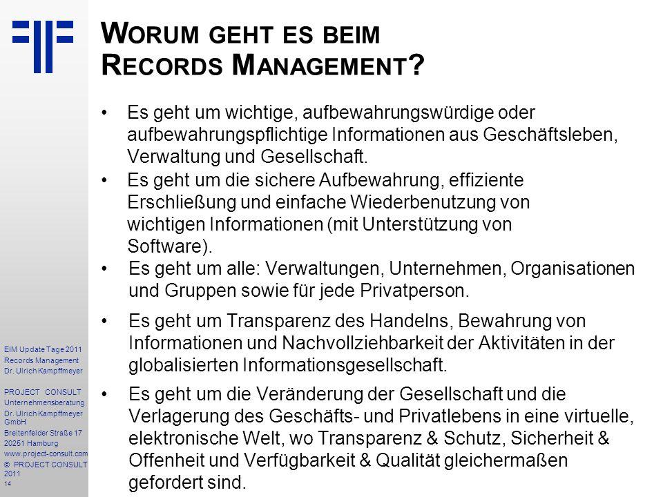 Worum geht es beim Records Management
