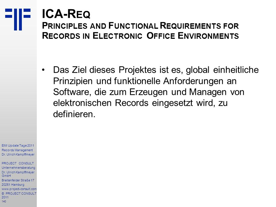 ICA-Req Principles and Functional Requirements for Records in Electronic Office Environments