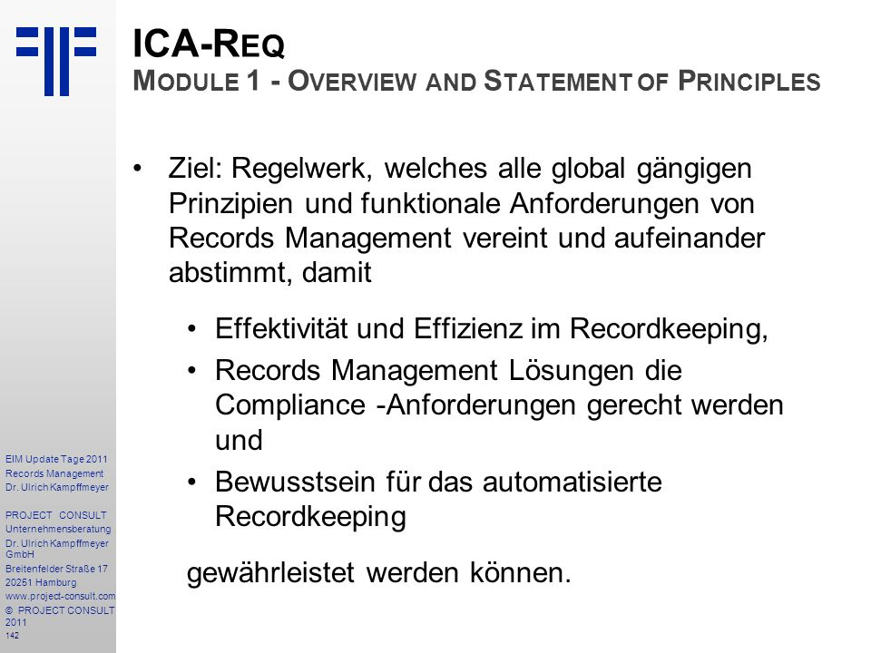 ICA-Req Module 1 - Overview and Statement of Principles