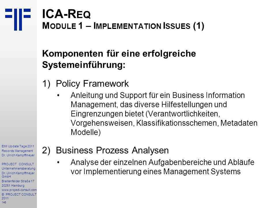 ICA-Req Module 1 – Implementation Issues (1)