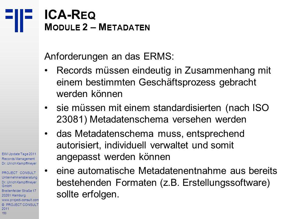 ICA-Req Module 2 – Metadaten